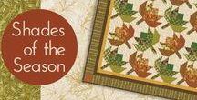 "Shades of Season 9 by Robert Kaufman / ""Shades of the Season 9"" by Studio RK for Robert Kaufman Fabrics"