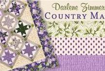 "Country Manor by Robert Kaufman / ""Country Manor"" by Darlene Zimmerman for Robert Kaufman Fabrics Available in stores starting October 2016"