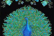 """Plume by Timeless Treasures / """"Enchanted Plume"""" by Chong-a Hwang for Timeless Treasures Fabrics"""