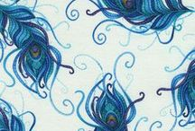 """Mosaic Plume by Timeless Treasures / """"Mosaic Plume"""" by Chong-a Hwang for Timeless Treasures Fabrics"""