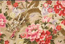 Quilt-Gate HR5905 Dragon / Quilt-Gate: Hyakka Ryoran - Dragon Fabrics Collection