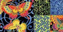 "Butterfly Carnival by Kona Bay / Kona Bay Fabrics - ""Butterfly Carnival"""