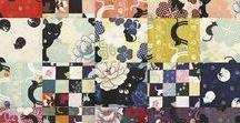 Quilt Gate - Neko-Coneko / Quilt Gate Fabrics - Hyakka Ryoran:  HR3110 - Neko, HR3170 - Neko-2, HR3180 - Neko-3, HR3220 - Coneco