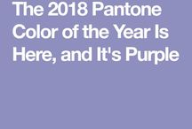 """Color of the year 2018 - Violet /  Color authority Pantone just announced its selection for the 2018 Color of the Year: Ultra Violet, a purple shade that is sure to prompt passionate discussion among design pros and enthusiasts. Pantone says the color """"communicates originality, ingenuity and visionary thinking."""""""