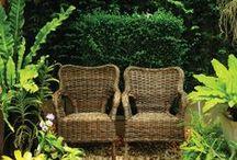 m'n kleine tuintje / Het zonnetje in huis zit ook wel eens in de tuin.