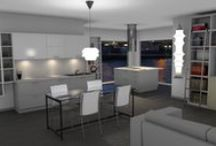 Modern Italian Kitchens / A collection of renderings for my customers