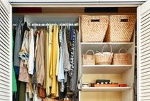 Storage ideas / Closet, shelf, drawer, and all kind of storage ideas