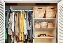 Storage ideas / Closet, shelf, drawer, and all kind of storage ideas