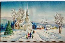 Kartki vintage / Kartki świąteczne (Boże Narodzenie) w stylu vintage, wiktoriańskim i podobne.