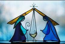 Witraże Boże Narodzenie / Witraże do wykorzystania jako wzory świąteczne