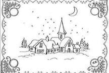Boże Narodzenie - technika pergaminowa / Wzory i pomysły na kartki