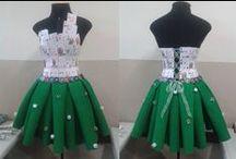 Moda com materiais alternativos / A reunião de imagens que servirão para a inspiração de um trabalho envolvendo a confecção de um vestido sem o uso de tecido, inspirado em cassinos como a escolha do grupo.
