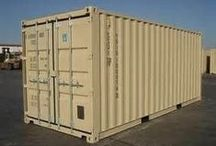 Portable Storage Containers / Secure #portablestoragecontainers are perfect for storing excess merchandise, seasonal products, business records, or materials right on your job site.  #mobilestoragetrailers