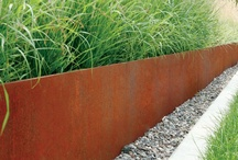 Sheet Metal  / Sheet metal, especially rusted sheet metal can bring a great element into your garden that is different to the stock standard elements usually used in gardens and on homes.