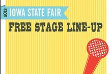 2013 Free Stage Line-Up / The Iowa State Fair offers more than half a million dollars worth of entertainment FREE with gate admission. Check out the line-up at the 2013 Fair.