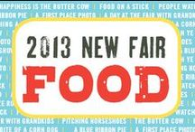 2013 New Fair Foods  / The Fair boasts nearly 200 food stands and more than 60 delectable items available on-a-stick. Just take a look at what yummy foods were at the 2013 Fair!