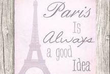 Paris.....is always a good idea!!  ♥