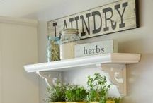 Farmhouse Chic - Laundry & Mud Rooms / Lovely ideas for dreamy laundry and mud rooms.  If you have to do laundry, shouldn't it be pretty?