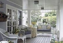 Farmhouse Chic - Porches & Sunrooms / No farmhouse is complete without a porch, and if you throw in a sunroom for those cold but sunny days, be still our beating farm hearts.