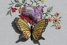 Stumpwork embroidery