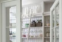 Farmhouse Chic - Pantries / We're a little obsessed with order around here, and these pantries speak to our little organized hearts.