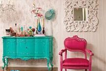 Rooms - fabulous hot pink and other colors / by Harriett Seckinger