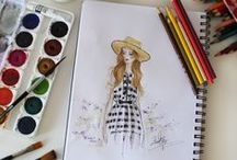 My Fashion Illustration / Fashion illustrations and sketches