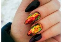 Autumn colored nails