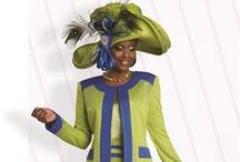 Classic Church Suits & Hats / A celebration of the classic embellished & dressy suits, dresses and hats for church in the tradition of the historically Black protestant churches in America. Sizes range from slim missy through super plus sizes. Hats are satin ribbon for dressy and light fibers in summer.