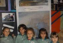 """Mar de letras en el CEIP """"Alba Plata"""" / Exposición Mar de letras"""