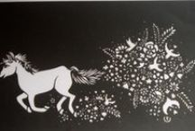 black and white works / peper-cutting only using black paper