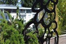 By Palissadesign / Aménagement de cocons d'extérieur par Palissadesign.  Treillages, claustras et panneaux décoratifs