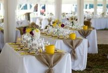 ślub - dekoracje na stół