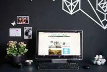 Espacios & Workspace / Espacio de trabajo, decoración de interior, para hacer de tu oficina un rinconcito agradable | oficina | decoración | organización | diseño | interiores | inspiración | home office