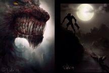 Werewolf / Draw werewolf stuff