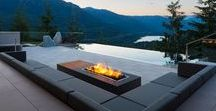 Contemporary Firepits / Outdoor entertaining is so much better with a roaring fire as a backdrop.