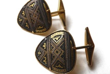 Vintage cuff links and silk ties