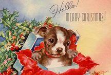 vintage christmas card ❤