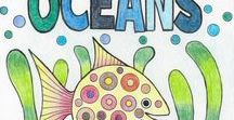 World Oceans Day | June 8th | Save the Oceans / Information and fun kids activities for World Oceans Day which is celebrated annually on 8th June. Events are held around the world to encourage us to better understand and celebrate the Earth's oceans.