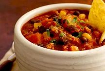 Dinner ~ Chili & Cornbread Recipes / by Recipelink.com