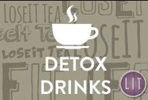 Detox Drinks / Delicious, tasty, nourishing detox drinks that are high in vitamins, nutrients, and antioxidants. Enhance natural body detox with herbs, spices, and fruits by adding them to your detox drinks.