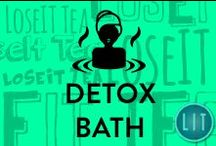 Detox Bath & Detox Beauty / Natural detox bath & beauty secrets that are easy-to-make, nourishing to your skin & hair, and inexpensive! 100% Raw Coconut Oil, Essential Oils, Natural Makeup, DIY Skincare, Detoxifying Baths, and Healthy Haircare.
