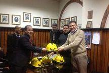 16 cía. realiza importante donación al CB de Conchalí / La Decimosexta compañía del Cuerpo de Bomberos de Santiago (CBS), oficializó la donación de 25 cascos estructurales para la Escuela de Formación del Cuerpo de Bomberos de Conchalí.