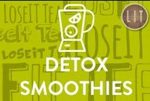 Detox Smoothies / We love sharing 3 minute detox smoothies to kickstart your day or power up your afternoon! Enjoy simple, easy-to-make, tasty smoothies that are energizing, low in carbs, high in fibre, and nutritious!