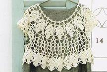 Crochet Tops / Crochetted tops, blouses, vests, cardigans - for women and children