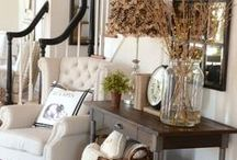 Around the home / Making a place a home. Decorating and arranging tips.