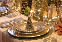 Christmas Tablescapes / Beautiful Christmas table ideas