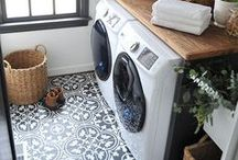 Inspire: Laundry Room and Craft Room / A mom's dream space. The best laundry rooms around. Craft room ideas to die for! www.huntandhost.net