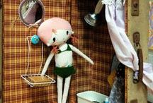 Dolls and Toys / knitted, crochet, paper dolls and toys, dolls clothes...