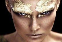 make-up/hair gold